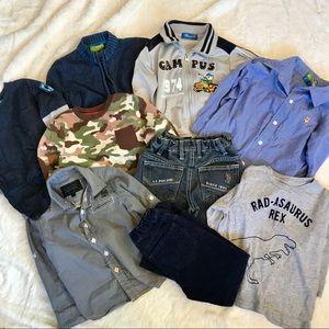 9pcs clothing bundle size 2 to 4T